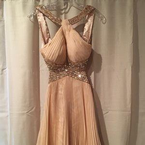 Dresses & Skirts - Dave and Johnny beige formal dress
